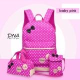 Review Tas Ransel Backpack Sekolah Anak 3 In 1 Motif Polka Pita Indonesia