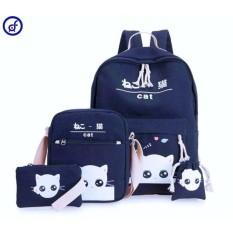 Diskon Tas Ransel Backpack Sekolah Anak 4In 1 Motif Cat Indonesia