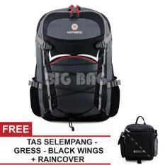Tas Ransel Gear Bag Apocalypse Tas Laptop Backpack - Silver Black + Raincover + FREE Gress Black Wings Tas Pria Tas Kerja Tas Messenger Tas Slempang Tas Fashion Pria