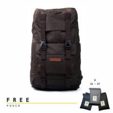 Beli Tas Ransel Laptop Backpack Tas Travel Punggung Pria Wanita Tas Sekolah Kuliah Mithril Aeron Brown Nyicil