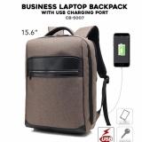Jual Tas Ransel Laptop With Usb Port Tas Backpack Anti Sobek Tusuk Dan Goresan Coffe Brown Import Ori