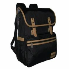 Tas Ransel Prosport Korea stely Casual 06532 Black + Waterproof Raincover