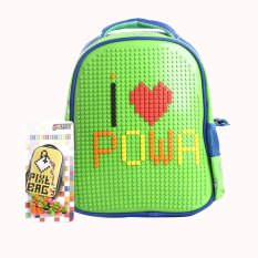 Berapa Harga Tas Ransel Sekolah Anak Kids Backpack Powa Pixel Bags 888 Green Powa Di Dki Jakarta