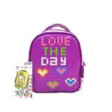 Toko Tas Ransel Sekolah Anak Kids Backpack Powa Pixel Bags 888 Purple Terlengkap