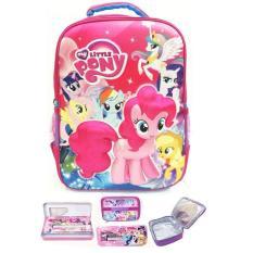 Tas Ransel Sekolah Anak SD My Little Pony 3D Timbul Hard Cover LBKP / tas sekolah anak perempuan / tas ransel anak - anak / tas sekolah motif murah model terbaru