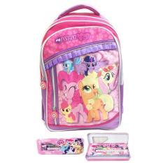 Tas Ransel Sekolah Anak SD My Little Pony Full Sateen IMPORT S / tas sekolah anak perempuan / tas sekolah ransel anak-anak / tas sekolah motif murah terbaru