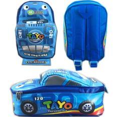 Tas Ransel Sekolah Anak TK Tayo Tayo 3D Mobil On The Road / tas sekolah anak - anak / tas sekolah anak laki / tas sekolah motif murah model terbaru