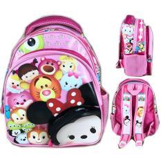 Tas Ransel Sekolah Anak TK Tsum Tsum Mickey Minnie 3D Timbul / tas sekolah anak-anak / tas sekolah anak perempuan/ tas sekolah bergambar / tas sekolah anak model baru
