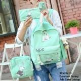 Promo Tas Ransel Set 4 In 1 Backpack Sekolah Tas Beranak Motif Deer Tas Sekolah Terbaru