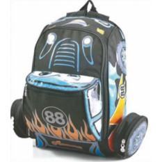 tas sekolah anak murah / tas anak laki laki motif mobil balap 587-03 / tas anak cowok sekolah murah