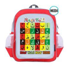 MK004 Merah Tas Sekolah Anak Muslim TK/PAUD