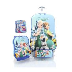 Tas Sekolah Anak Troley Samurai 1 Tangkai 6 Roda Frozen Fever SET / tas ransel sekolah anak perempuan / tas sekolah anak SD / tas sekolah motif