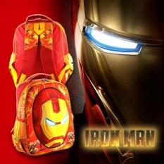Jual Tas Sekolah Ransel Anak Tk Sd Cowok Model 3D Motif Kepala Ironman Jawa Timur