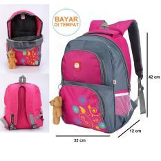 Jual Tas Sekolah Sd Anak Perempuan Backpack Ransel Cewek Boneka Beruang Bear Import