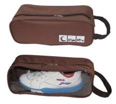 Tas Sepatu/Sandal Olahraga Fitness Gym Sport Shoes Bag Organizer - COFFEE