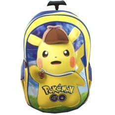 Tas Troley Sekolah Anak SD Pokemon Go Pikachu Topi 3D Timbul / tas sekolah anak laki / tas sekolah troli anak - anak / tas troli motif murah terbaru