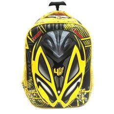 Tas Troley Sekolah Anak SD Transformer Bumblebee Hard Cover 3D Timbul /  tas sekolah anak laki / tas sekolah murah  / tas motif