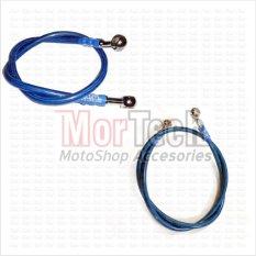 TDR Paket Slang - Selang - Kabel Minyak Rem Set Depan+Belakang Tiger Revo Biru