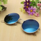 Beli Teamtop Retro Vintage Men Women Big Round Metal Frame Sunglasses Glasses Eyewear Fashion Kredit Indonesia