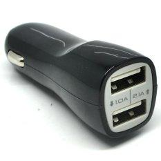Teiton 2 Port Dual USB Chager Mobil - Hitam