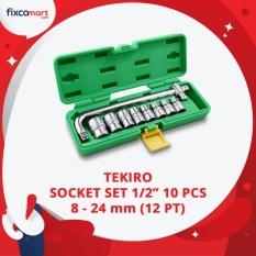 Beli Tekiro Socket Set 1 2 10 Pcs 8 24 Mm 12Pt Tekiro Kunci Sock Set 1 2 Inch 10 Pcs Online Terpercaya