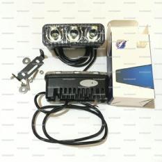 Tembus Kabut RTD Lampu Sorot Tembak Led 3 Mata Anti Air Waterproof Motor Sport Bebek Depan Mobil Headlamp Tambahan Head Lamp