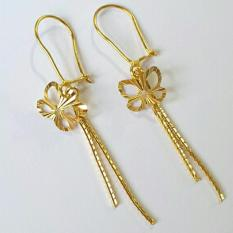 Terbaru... Anting Panjang Kadar 875 Kupu Kupu / Anting Wanita / Perhiasan Emas / Gold Earrings / Anting Drop