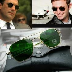 Terbaru Kacamata Pria Outdoor Pilot American Optic (Ao) Gold - Kdstr