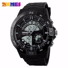 Terlaris !! Skmei Casio Men Sport Led Watch Water Resistant 50m - Ad1110 - Jam Tangan Kasio Analog Digital Pria Cowo Cowok Lelaki Laki-Laki Man Men Waterproof Anti Air 50 M Meter Black Hitam ( Gray Abu-Abu / Blue Biru / Red Merah ) Original