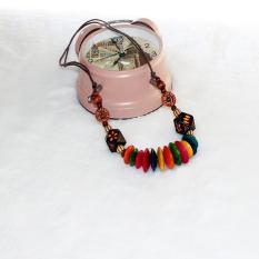 TERLARIS.Rugi kalau tidak memilikinya. Kalung Kayu Murah dari perajin yogya warna etnik kayu  1