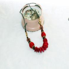 TERLARIS.Rugi kalau tidak memilikinya. Kalung Kayu Murah dari perajin yogya warna etnik kayu