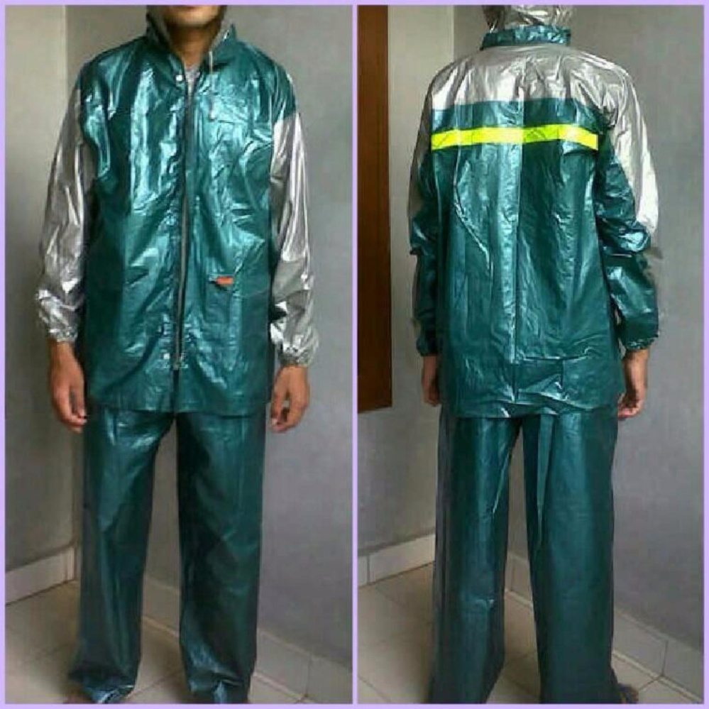 Termurah Elmondo Top Gear Jas Hujan Setelan Baju Celana Tipe 901 Top Gear - Hijau