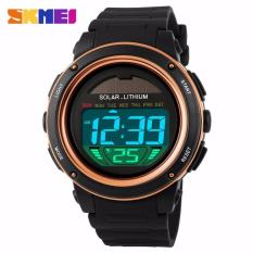 Toko Termurah Skmei Solar Power Sport Led Watch Water Resistant 50M Dg1096 Black Blue Hitam Biru Black Orange Oren Jam Tangan Tenaga Panel Sinar Matahari Pria Wanita Cowo Cewe Cowok Cewek Man Y G*rl Anti Air Waterproof 50 M Meter Original Terlengkap Di Jawa Barat