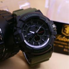 Jual Beli Tetonis Dual Time Jam Tangan Sporty Pria Design Exclusive Rubber Strap