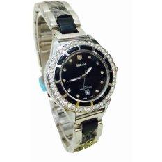 Harga Tetonis Jam Tangan Fashion Wanita T9695M Sb Silver Black Baru Murah