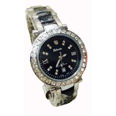 Jual Tetonis Jam Tangan Fashion Wanita T9885M Sb Silver Black Di Bawah Harga