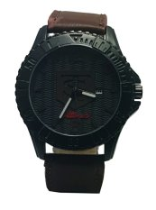 Jual Tetonis Jam Tangan Kasual Pria Leather Strap Dark Brown Ts 9952 Db Tetonis Original