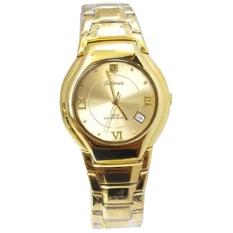 Harga Tetonis Jam Tangan Wanita Gold Stainless Steel T950G Original