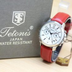Tetonis jam tangan wanita - strap kulit - Crono aktif-TW 7822 ART