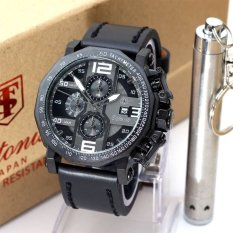 Tetonis Original - T 9590 BW - Jam Tangan Pria - Leather Strap - Black