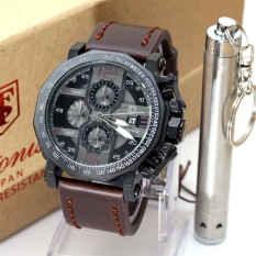 Tetonis Original - T 9590 DBW - Jam Tangan Pria - Leather Strap - Dark Brown