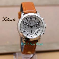 Promo Tetonis Original T138Lbw Jam Tangan Pria Leather Strap Murah