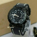 Review Tetonis Original T977 Black Jam Tangan Kasual Pria Leather Strap Water Resist