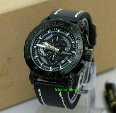 Harga Tetonis Original T977 Jam Tangan Kasual Pria Leather Strap Black Waterresist Asli Tetonis