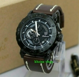 Tips Beli Tetonis Original T977 Jam Tangan Kasual Pria Leather Strap Dark Brown Yang Bagus