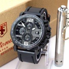Model Tetonis Original T990Bw Jam Tangan Pria Leather Strap Black Terbaru