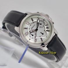 Tetonis Original TS1012 [Chronograf] - Jam Tangan Wanita - Strap Kulit - Silver
