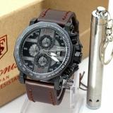 Spesifikasi Tetonis Original Ts3433Cn Jam Tangan Pria Chrono Aktif Leather Strap Coklat Tua Dan Harga