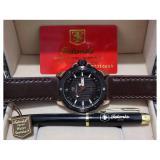 Harga Tetonis Quartz 9102 Leather Strap Dki Jakarta