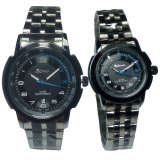 Tetonis T611Lg Jam Tangan Couple Stainless Strap Black Asli